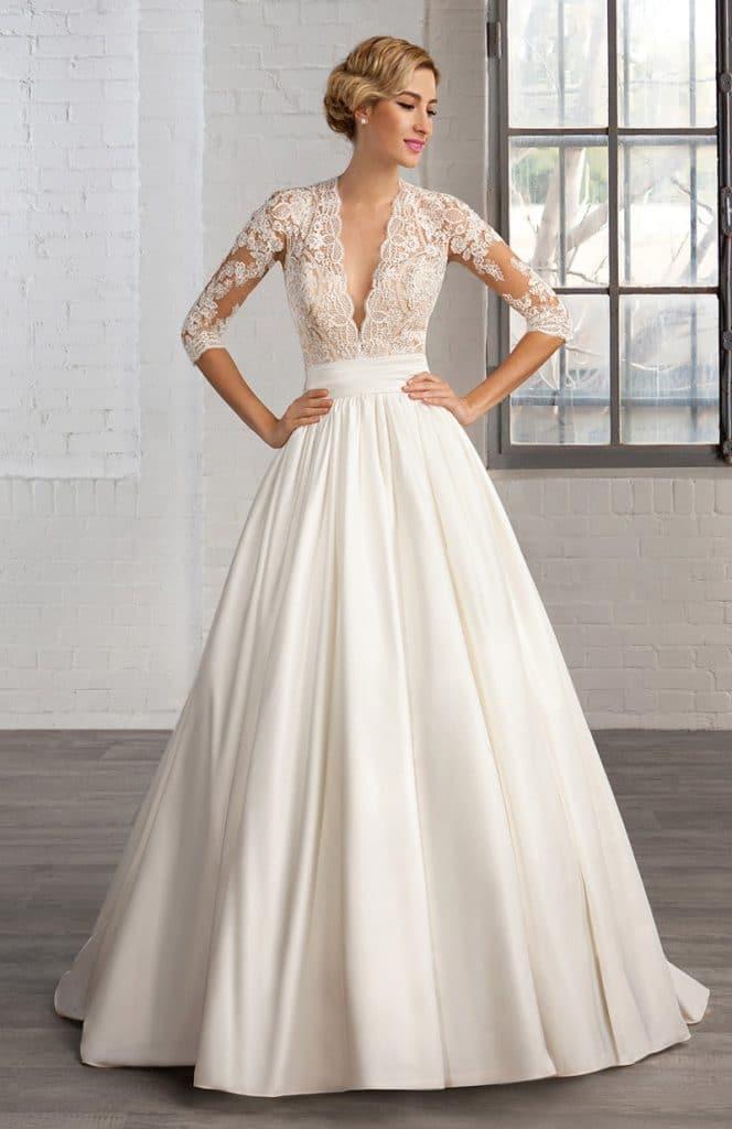 Robe de mariage en satin