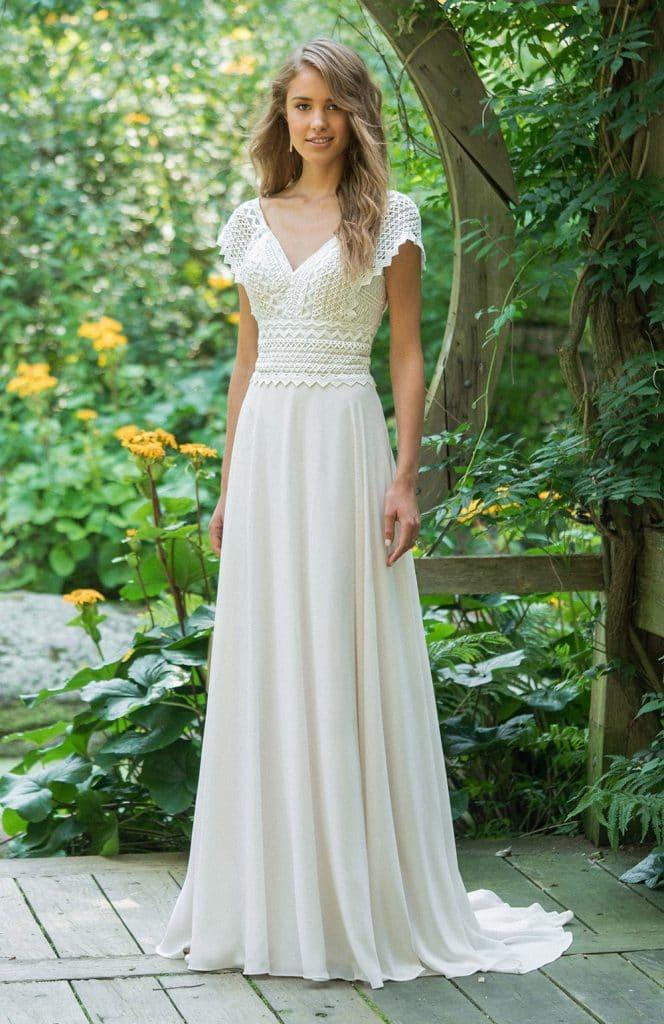 bonne texture les clients d'abord dernière conception Robe de mariée mousseline et dentelle 2020 | Couture ...